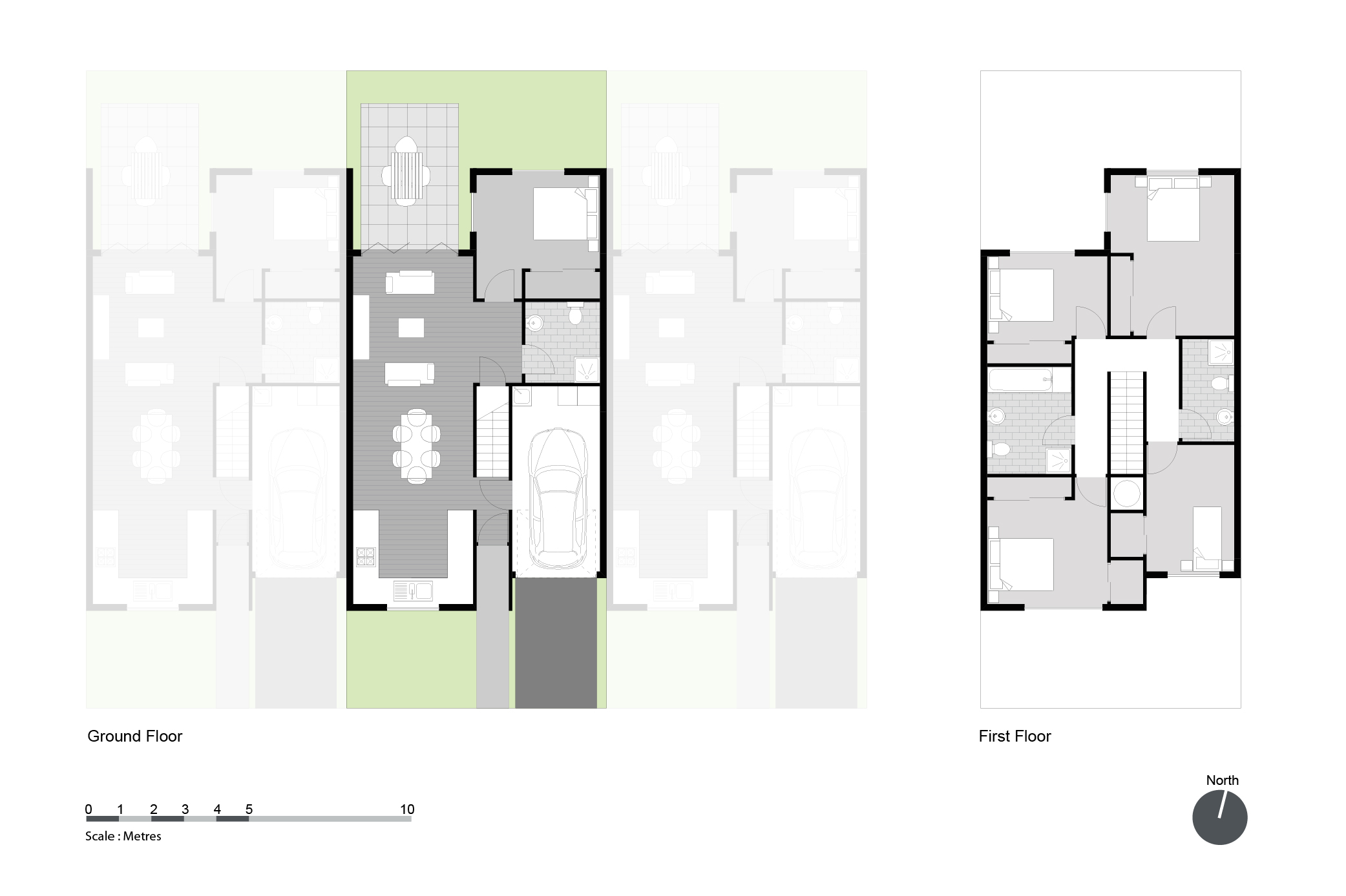 Example Layout Of A Large 4 5 Bedroom House With An Integrated Garage