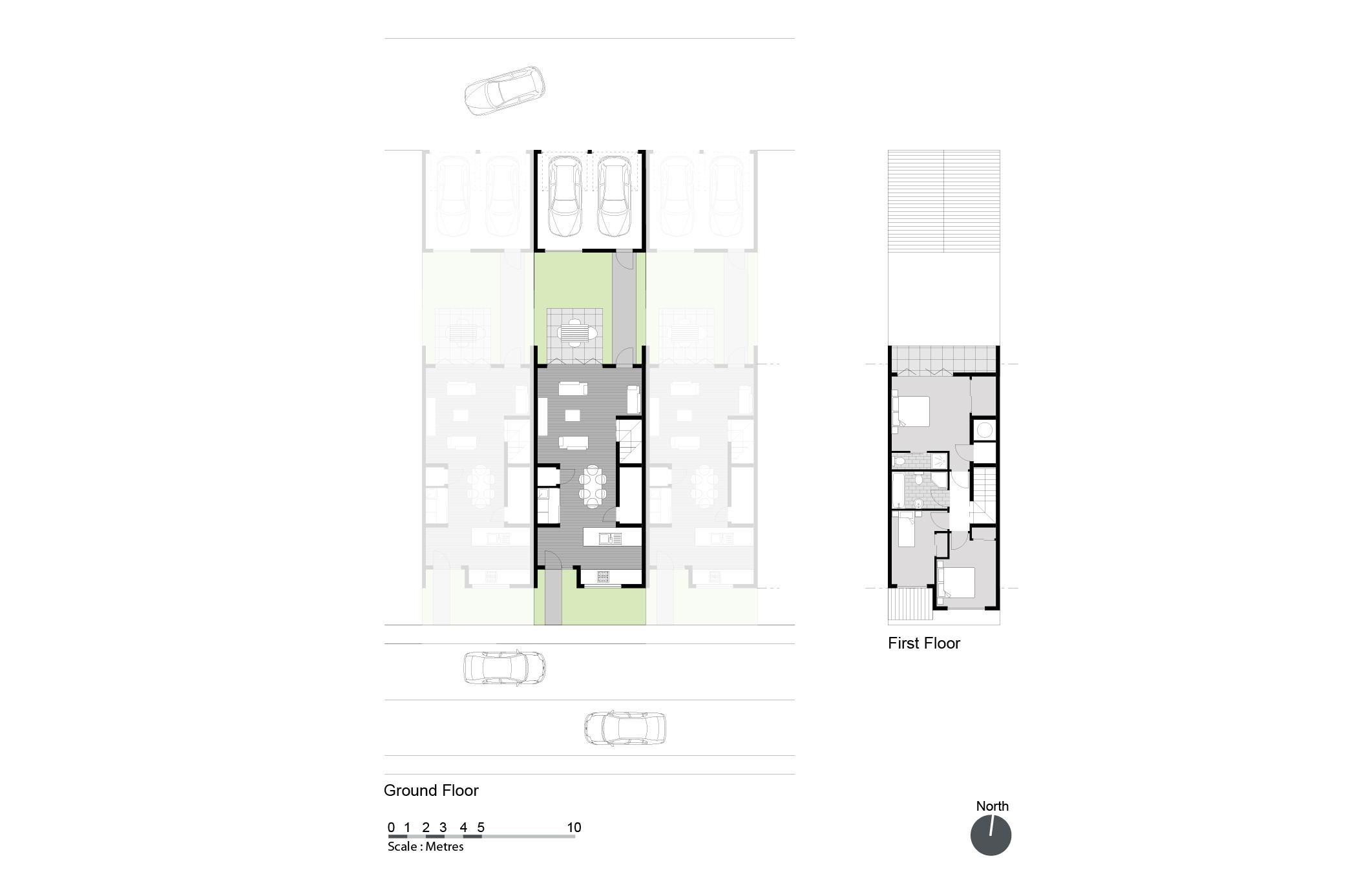 Rear garage house plans sydney