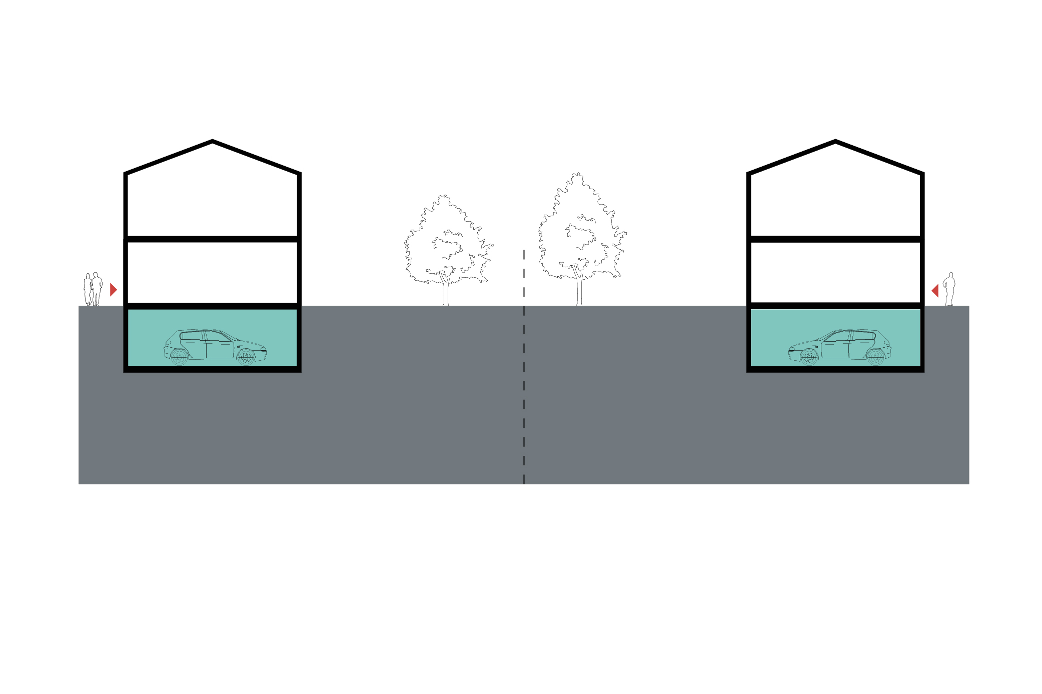 Design of basement car parking - Parking Grouped In Underground Basement Beneath The Building This Type Sometimes Uses The Natural Topography